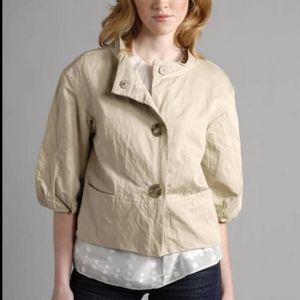 Vince Beige Cropped Swing Puff Blazer Jacket XS